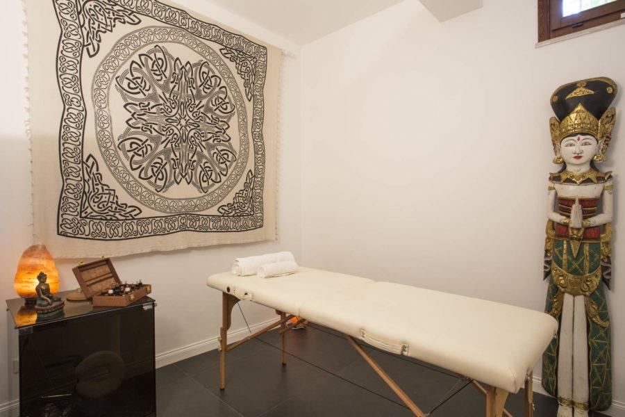 Massage room in Villa Shanti Syracuse Scent of Sicily