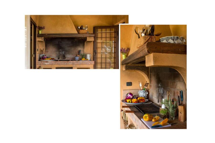 The masonry BBQ in Villa Bouganville Castelvetrano Scent of Sicily