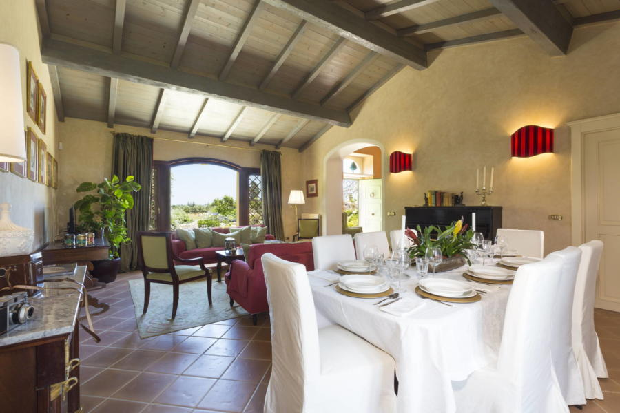 Stylish dinning room in Casale dell'Ulivo Syracuse Sicily