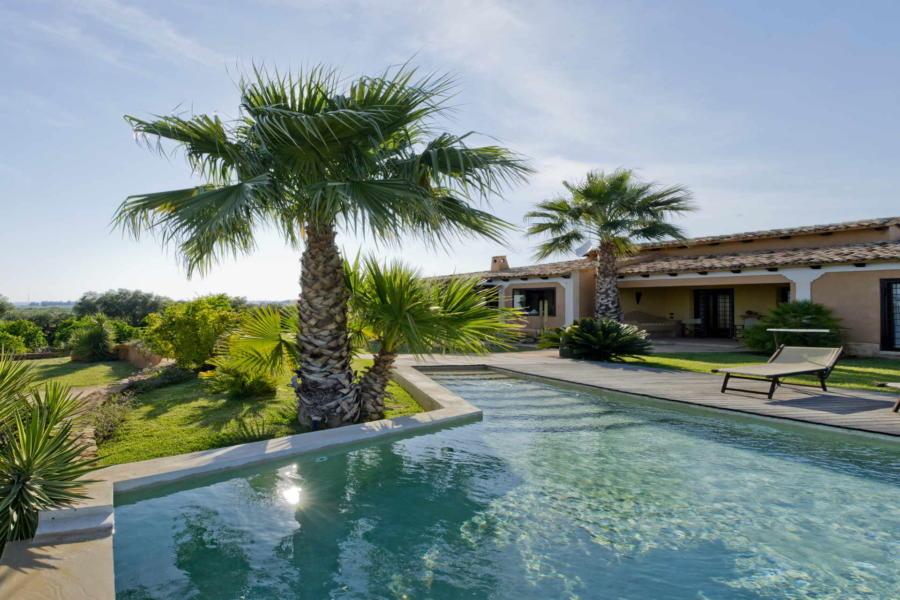 Lounging in the pool of Villa Bouganville Castelvetrano Scent of Sicily