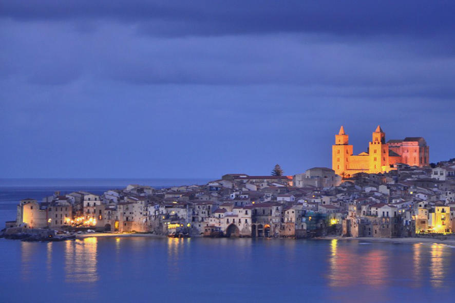 Cefalu in the evening Sicily