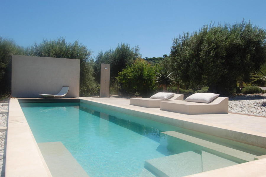 Lovely swimming pool for outdoor fun in luxury Villa Sea View Cefalù area Scent of Sicily