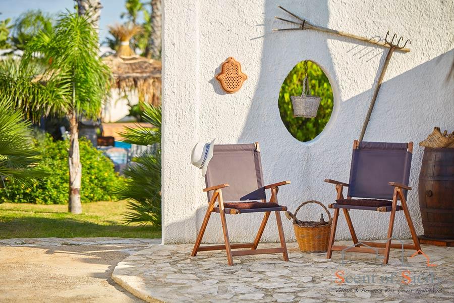 Relax area in Villa Gio, Marsala, Western Sicily