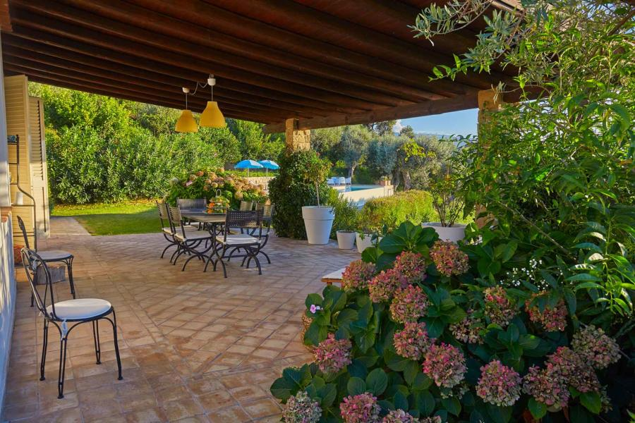 Covered Veranda in Villa Sunrise, Capo d'Orlando, Notnern Sicily