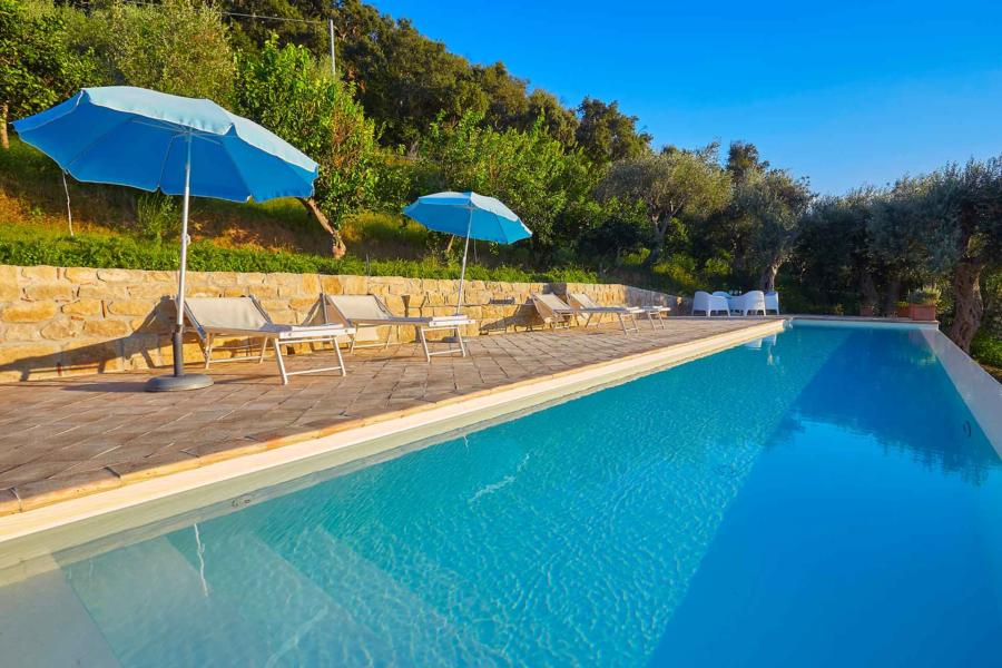 The swimming pool in Villa Sunrise, Capo d'Orlando, Notnern Sicily
