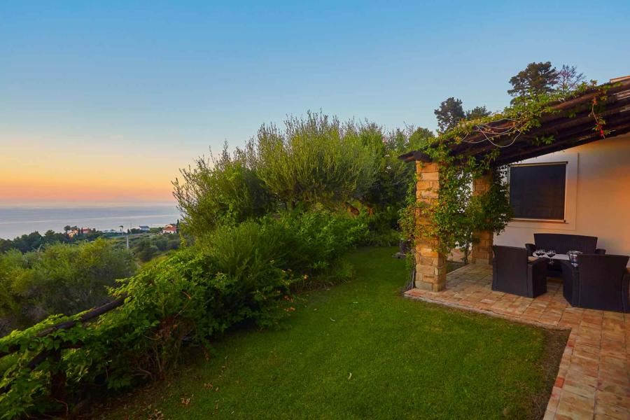 Sea view from Villa Sunrise, Capo d'Orlando, Notnern Sicily - first floor