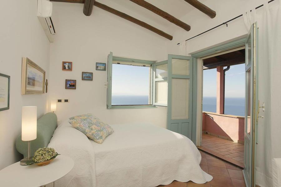 The master bedroom in Villa Sunrise, Capo d'Orlando, Notnern Sicily - first floor
