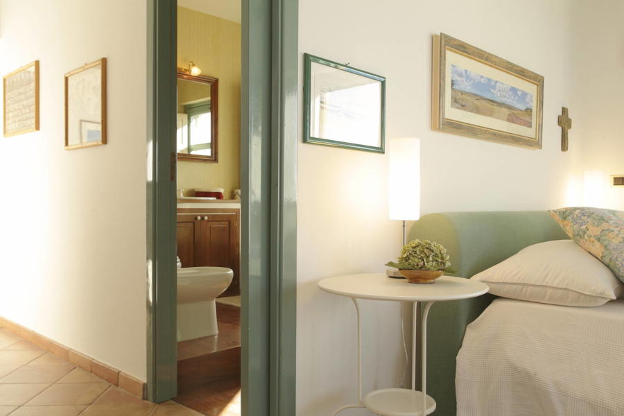 The master bedroom in Villa Sunrise, Capo d'Orlando, Notnern Sicily