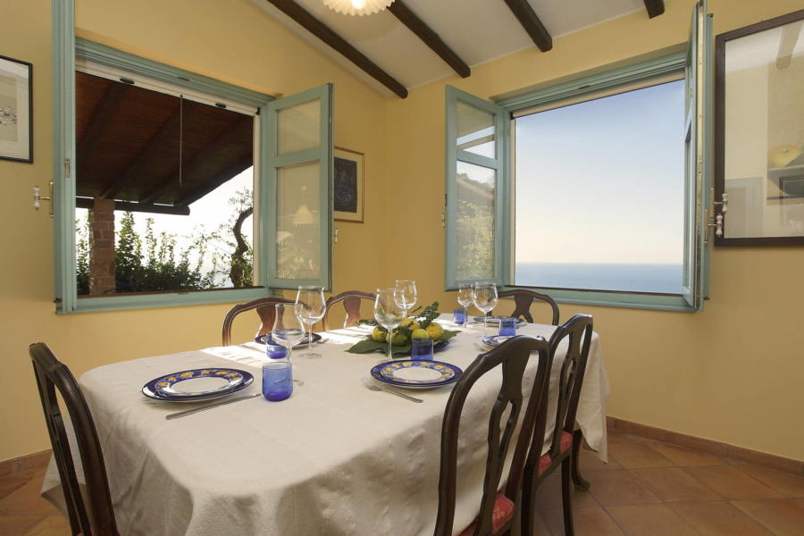 View from the dinning room in Villa Sunrise, Capo d'Orlando, Notnern Sicily