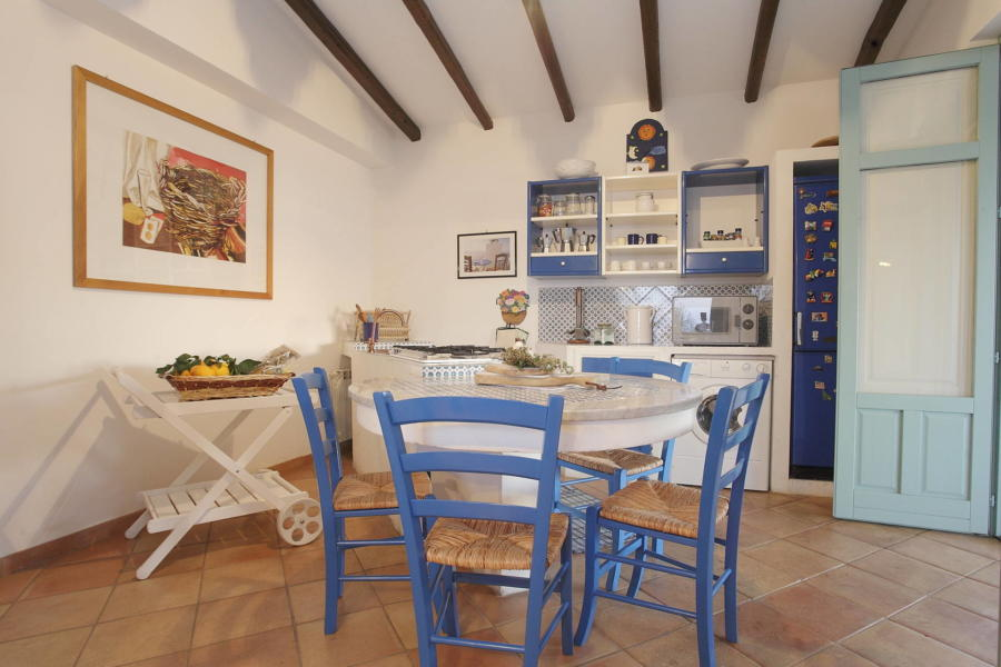 The kitchen in Villa Sunrise, Capo d'Orlando, Notnern Sicily
