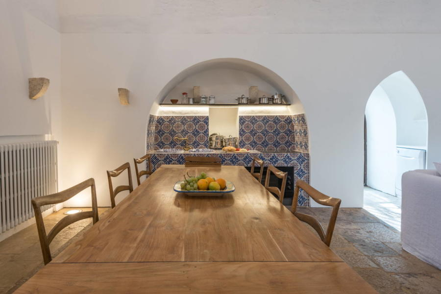 Enjoy each other's company while sitting around this table in Siciian Heritage Scent of Sicily