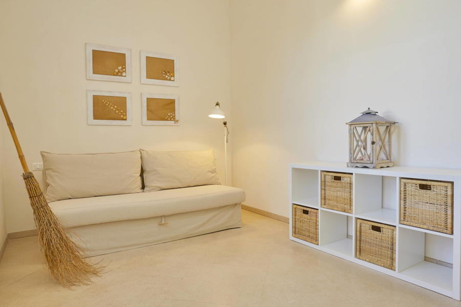 Room with double sofa bed in Villa del Tufo Marsala Scent of Sicily