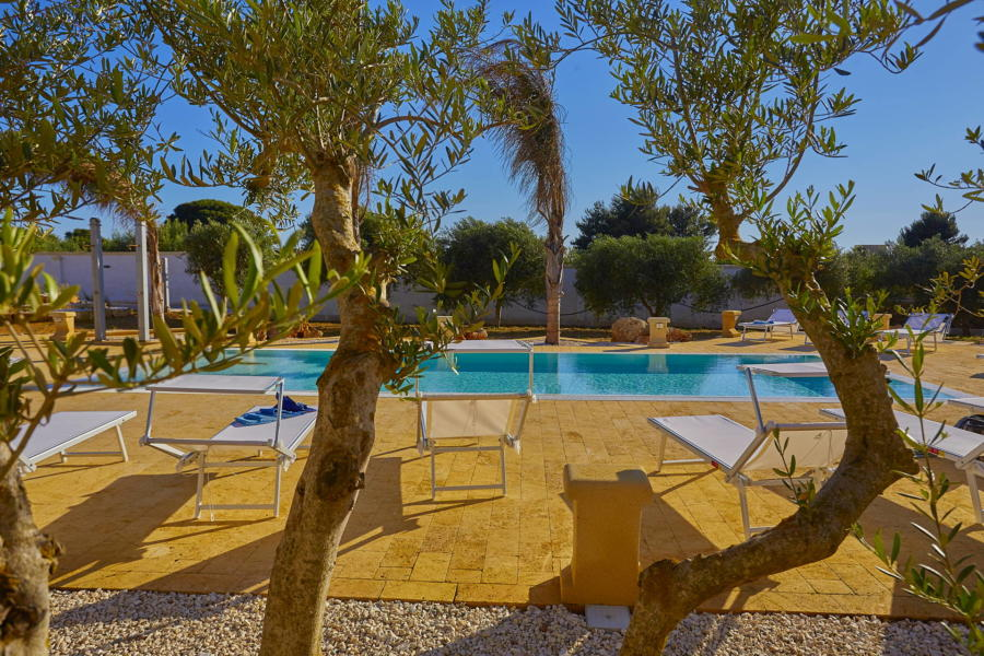 Relax in the swimming poll in Villa del Tufo  Marsala Western Sicily Scent of Sicily