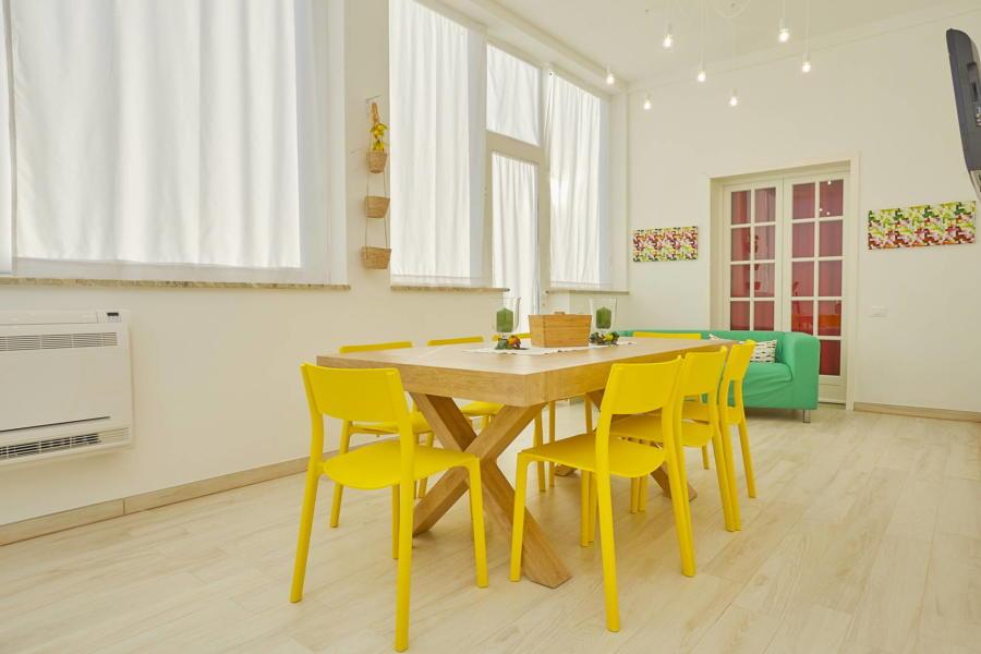 Dinnig - living room Villa del Tufo
