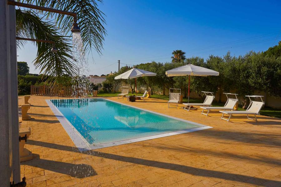 The big swimming poll in Villa del Tufo  Marsala Western Sicily Scent of Sicily