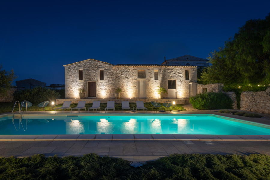 Enjoy the warm evenings from the pool in Siciin Heritage Scent of Sicily