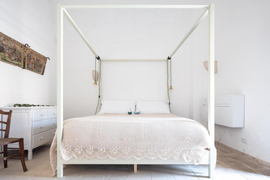 Refined double bedroom with canopy bed in Sicilian Heritage Scent of Sicily