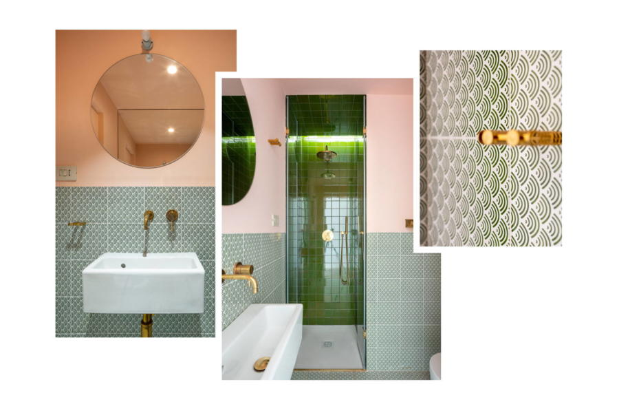 The elegant green bathroom in Sicilian Heritage Scent of Sicily