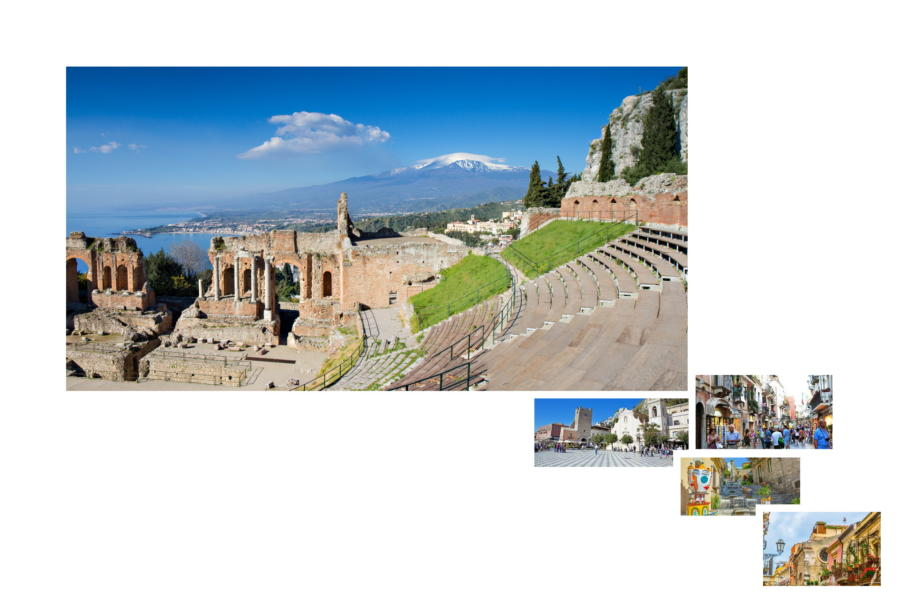 Greek theatre in Taormina Sicily