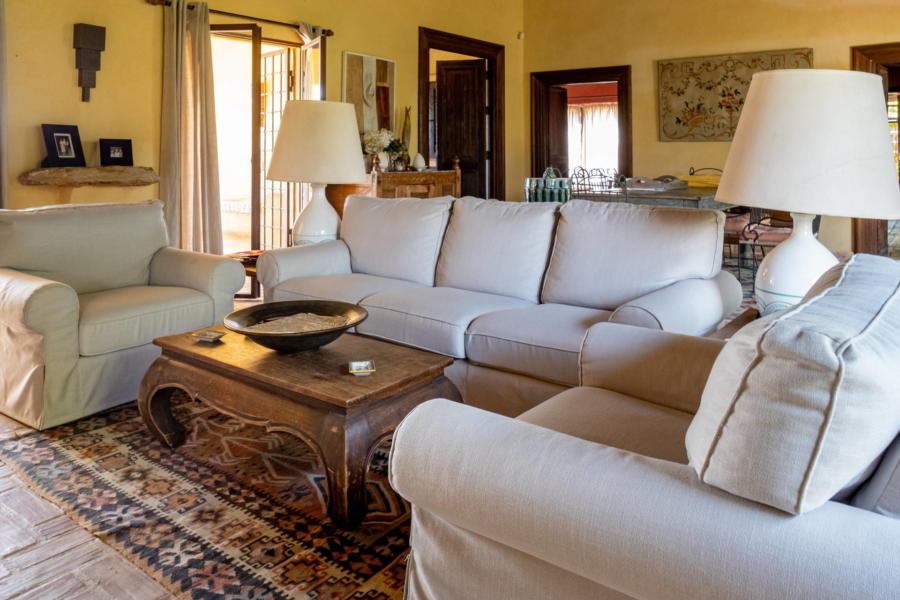 Comfortable sofa for sweetest dreams in Villa Bouganville Castelvetrano Scent of Sicly