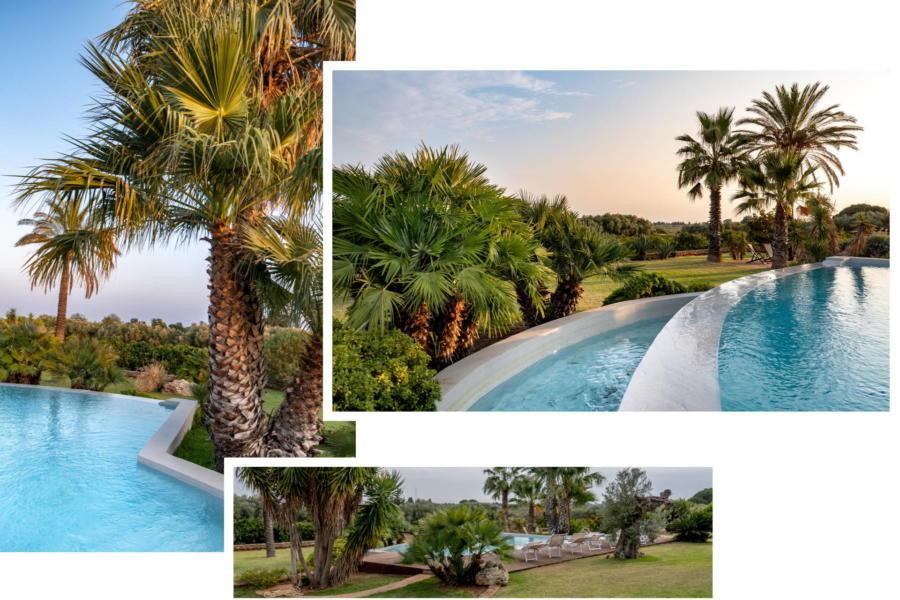 the beautiful infinity pool in Villa Bouganville Castelvetrano Scent of Sicily