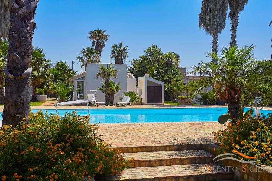 The big pool of Villa Lory, Marsala Western Sicily