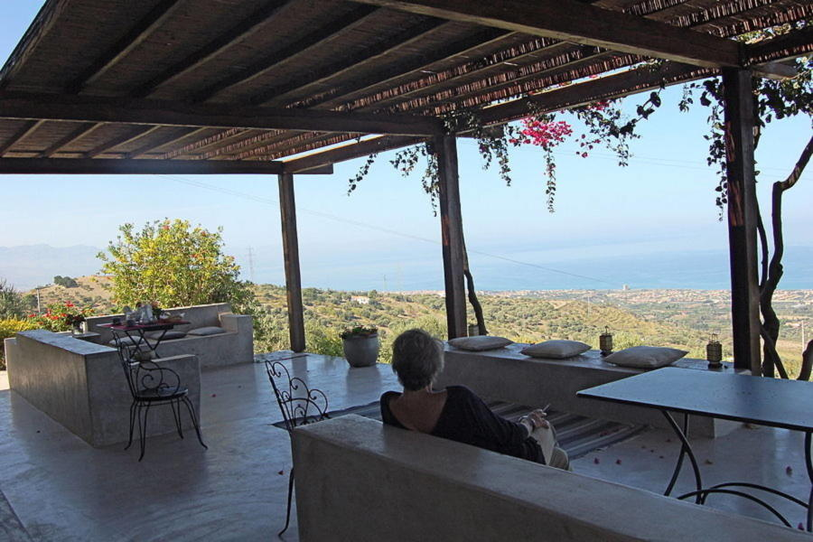 Wonderful veranda in Villa Sea View Cefalù area Scent of Sicily