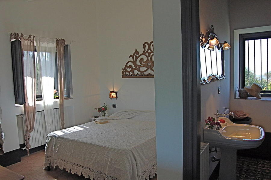 Double bedroom for perfect sleep and relax in Villa Sea View Lascari Scent of Sicily