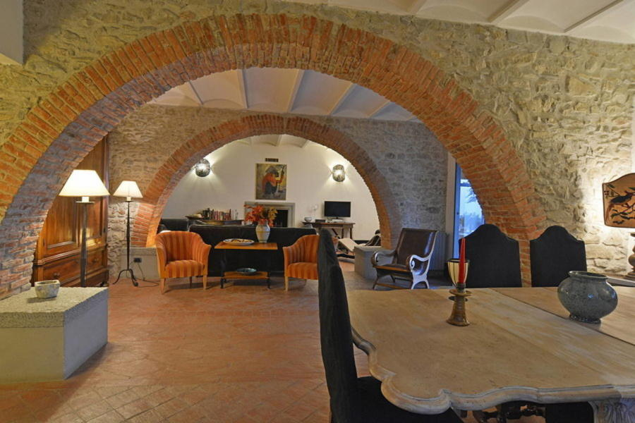 Luxury Villa Sea View Cefalù area Sicily the living room of the main house Scent of Sicily