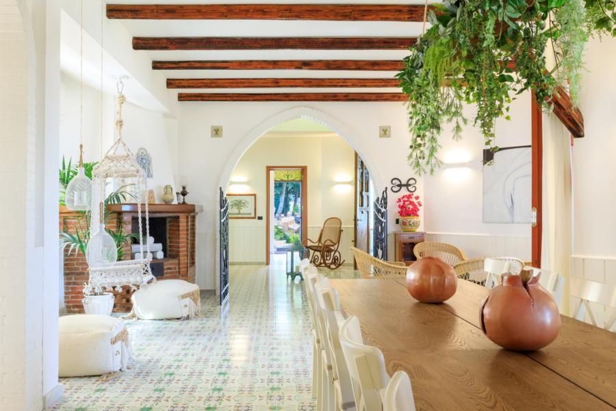 Dinning area in the Luxury Villa Amphora Carini Scent of Sicily