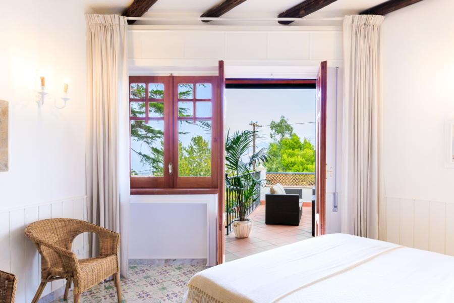 View in double bedroom in Villa Amphora Carini Scent of Sicily
