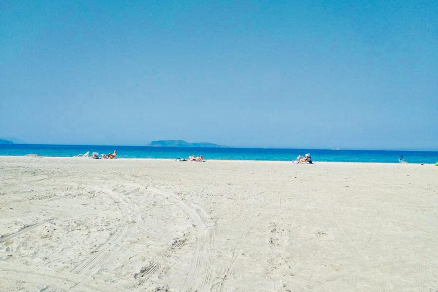 The marvellous blue sea.