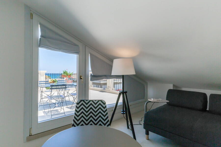 From the nice loft you can access the terrace