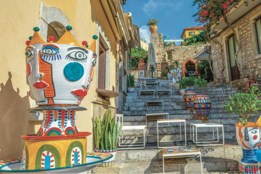 Sicily Taormina colors