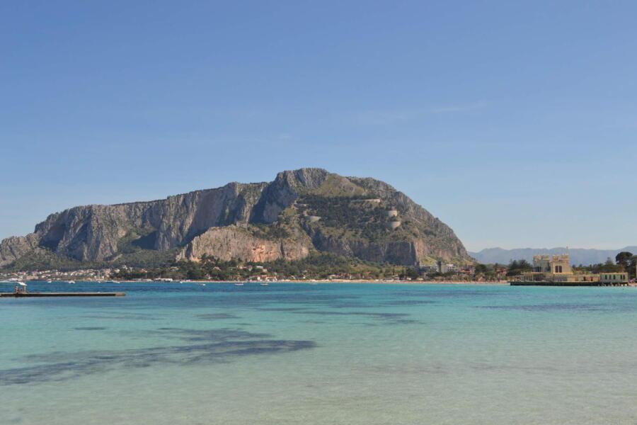 Sicily, Mondello blu sea