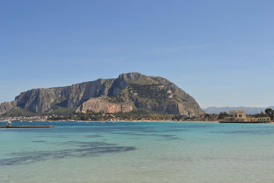 Sicily, Mondello blue sea