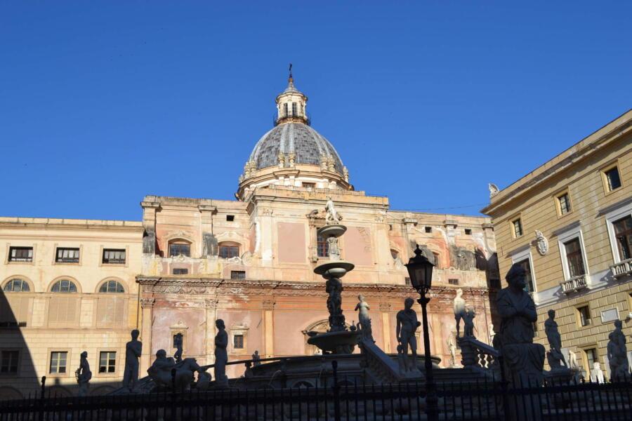 Sicily, Palermo blue sky