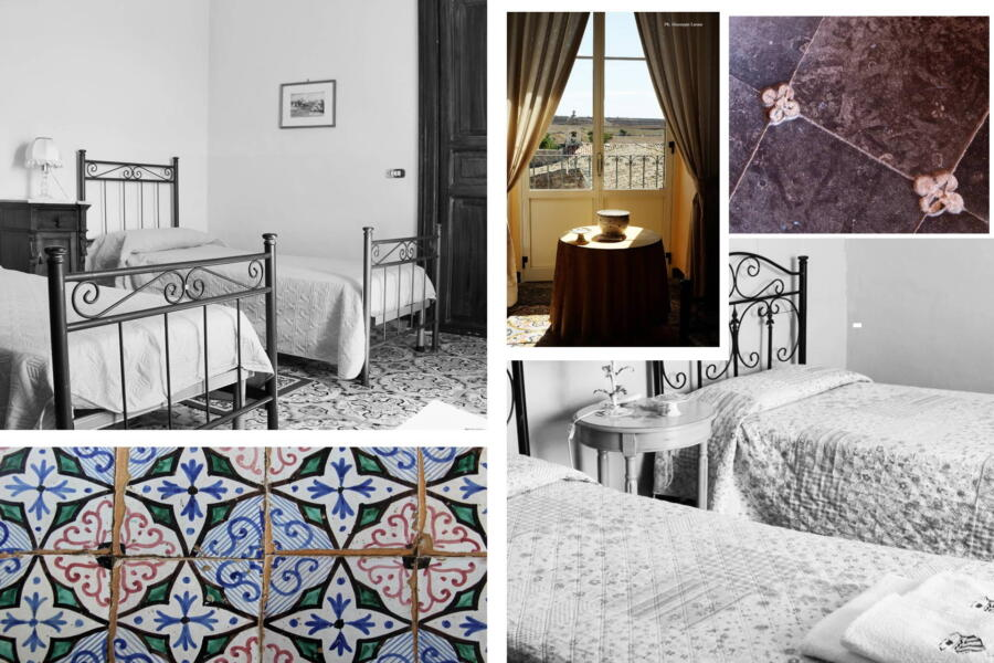 In the two twin bedrooms, the refined ceramics of the period have been maintained.