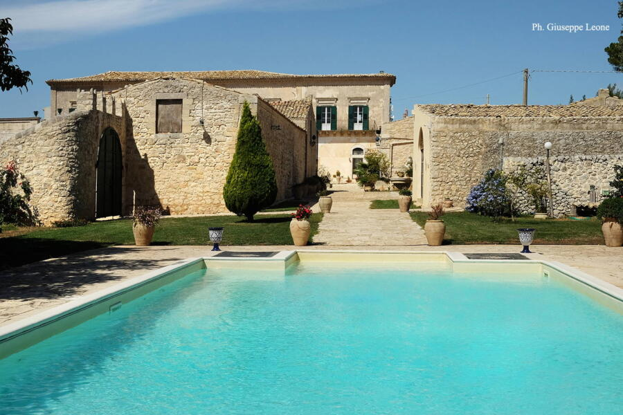 View from the pool of this charming historic residence.