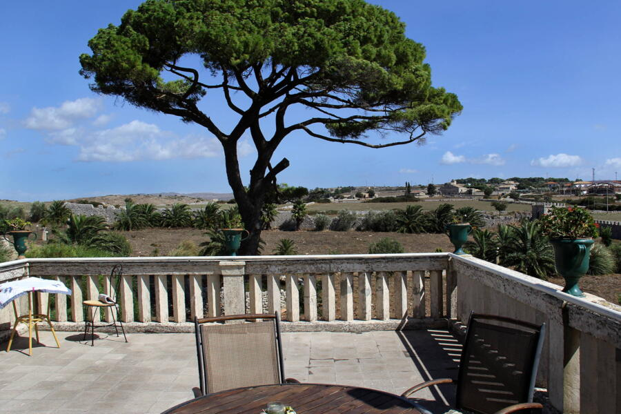 The wonderful view of the terrace of this historic residence