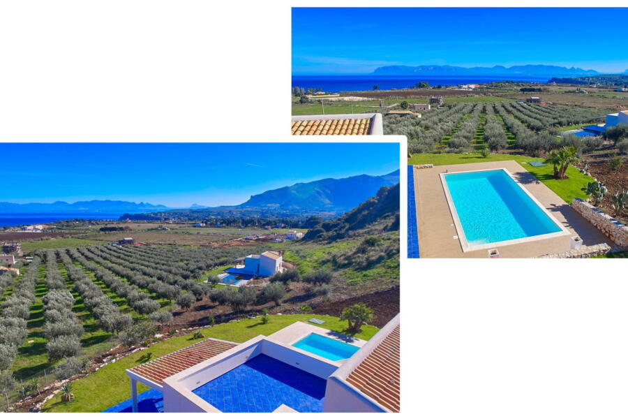 Nature surrounds the villa
