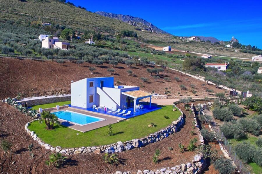 The villa as seen by drone
