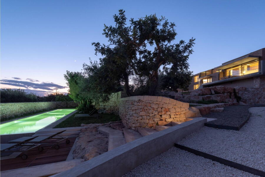 Colours of nature harmoniously surround the villa