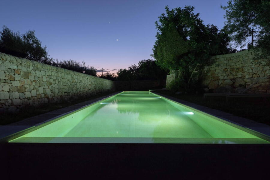 At the edge of the bio pool you can hear the natural sounds that surround the villa