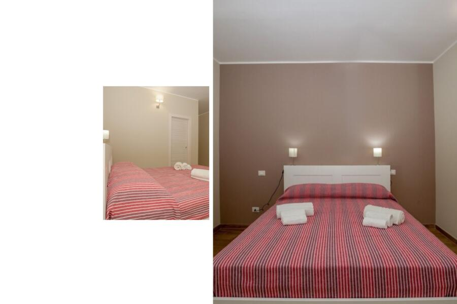 "The ""red"" double bedroom en-suite"