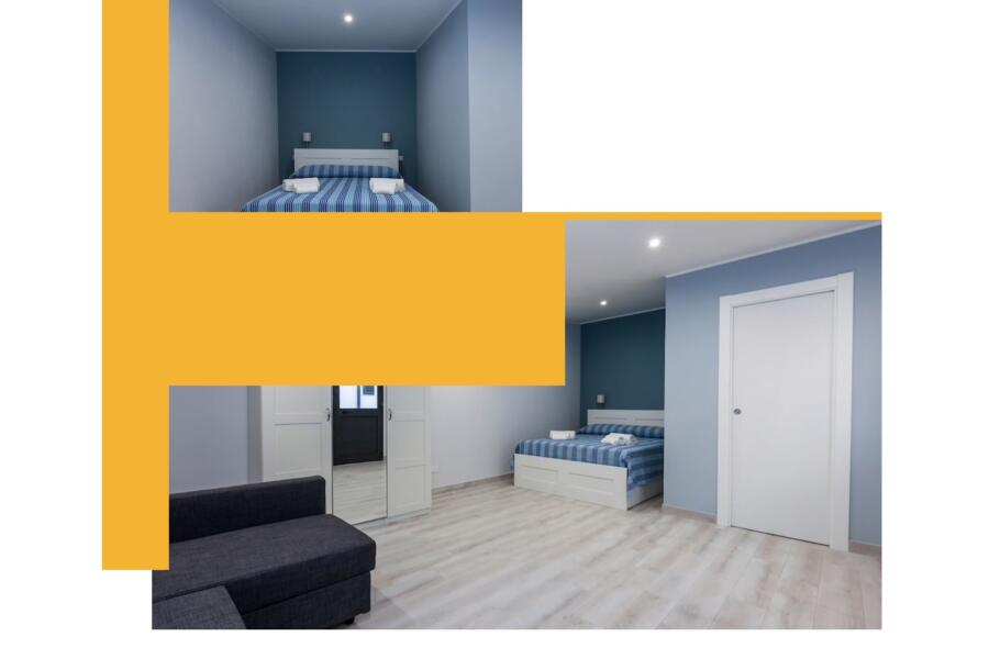 "The ""blue"" double bedroom en-suite"
