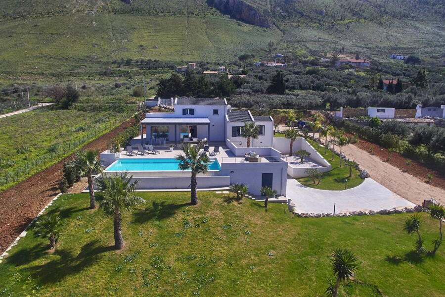 Drone top view of the villa