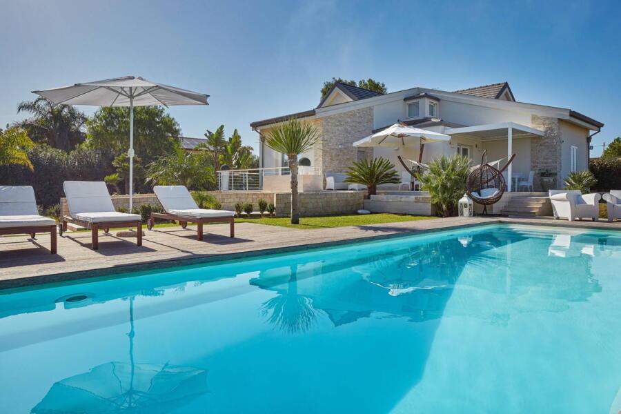 Villa Levante form the pool