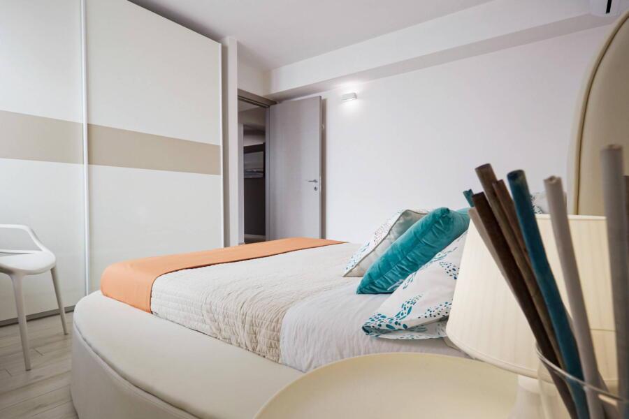 The round bedroom in Villa Levante