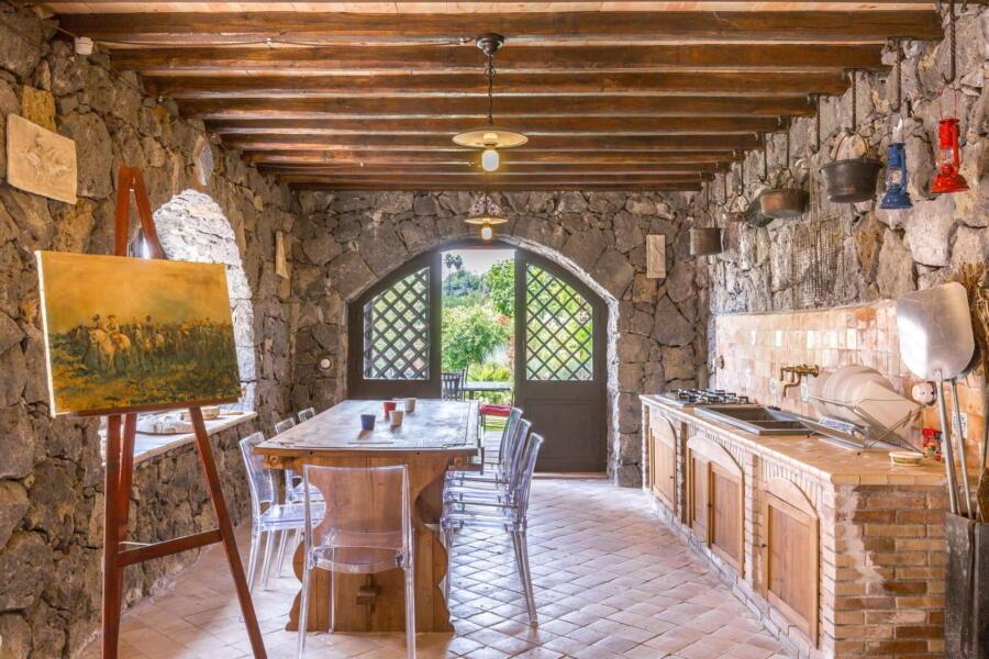The villa's beautiful outdoor kitchen